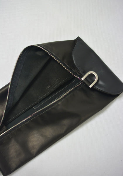 RICK OWENS RR19F4402 LBL BIG BLADDER WALLET BLACK - DOSHABURI Shop