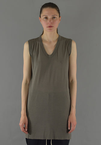 RICK OWENS RP19F5102 JS V-NECK SLEEVELESS T-SHIRT DUST 19FW-DOSHABURI Online Shop