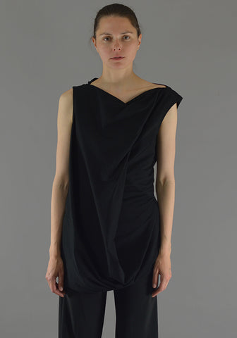 RICK OWENS RP19F5107 JA SLASH NECK TOP BLACK 19FW-DOSHABURI Online Shop