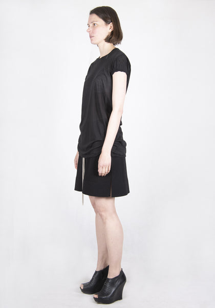 RICK OWENS RP21S3203 UC LEVEL SHORT SLEEVE T-SHIRT BLACK SS21 | DOSHABURI Online Shop