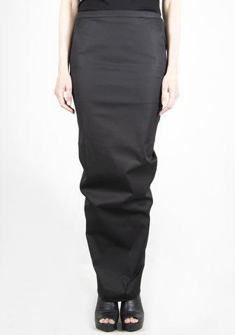 RICK OWENS RP21S3331 TE PILLAR LONG SKIRT BLACK 2021SS | DOSHABURI Online Shop