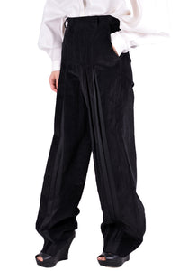 SITUATIONIST PANT-01-COTT-BLACK PLEATS FRONT PANTS BLACK - DOSHABURI Shop