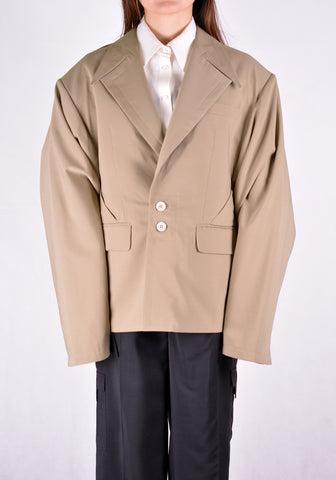 SITUATIONIST JACK-01-WOOL-BEIG JACKET BEIGE - DOSHABURI Shop
