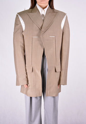 SITUATIONIST JACK-03-WOOL-BEIG JACKET BEIGE - DOSHABURI Shop
