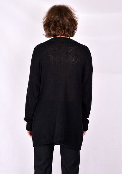 SUNNEI LS02 LONG KNIT SWEATER BLACK 2020FW | DOSHABURI Online Shop