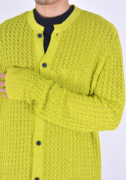 SUNNEI S01 KNIT CARDIGAN LIGHT GREEN - DOSHABURI Shop