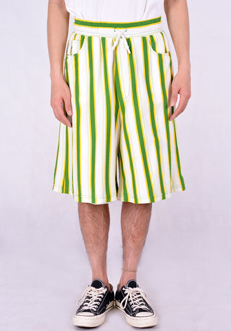 SUNNEI MT15BCR02 STRIPE SHORTS GREEN/YELLOW/WHITE - DOSHABURI Shop