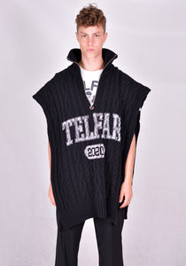 TELFAR K-05-BK WRAP SWEATER BLACK FW20 | DOSHABURI Online Shop