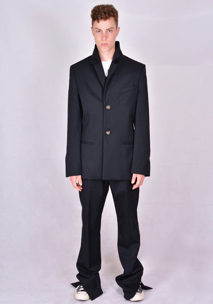 TELFAR SINGLE BREASTED BLAZER BLACK 2020FW | DOSHABURI Online Shop