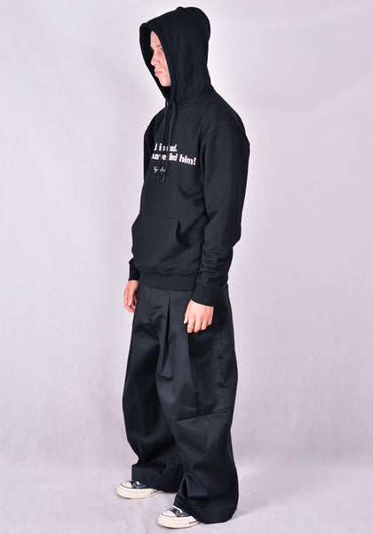VYNER ARTICLES 0A01 PRINT SWEAT HOODIE BLACK 2020FW | DOSHABURI Online Shop