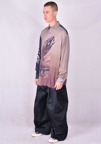 VYNER ARTICLES 0A47 COD FISH DIGITAL PRINT OVERSIZE SHIRT 2020FW | DOSHABURI Online Shop