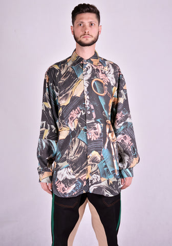 VYNER ARTICLES 0A47 OVERSIZE SHIRT VISCOSE COMIC3 DIGITAL PRINT 2020FW