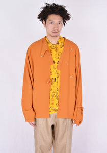 VEJAS 2037-LIQUID RECTILINEAR SHIRT APRICOT - DOSHABURI Shop