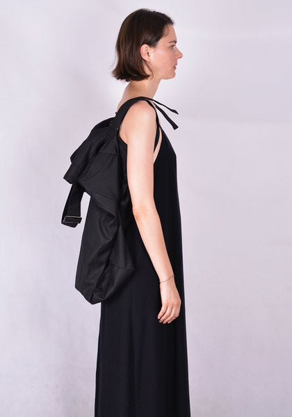 YOHJI YAMAMOTO DISCORD DR-I39-054 DOUBLE BIG SHOULDER BAG BLACK | DOSHABURI Online Shop