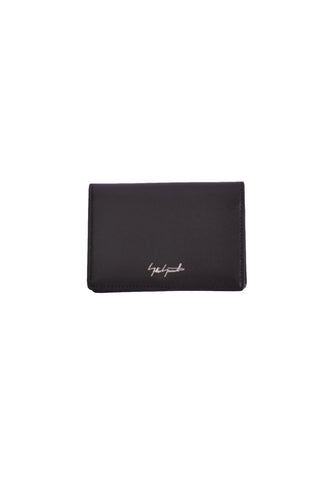 YOHJI YAMAMOTO DISCORD DN-A09-707-4 LEATHER CARD HOLDER BLACK - DOSHABURI Shop