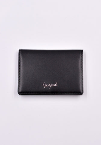 YOHJI YAMAMOTO DISCORD DD-A07-705 LEATHER CARD HOLDER BLACK | DOSHABURI Online Shop