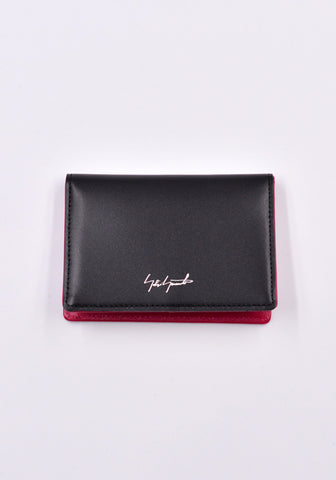 YOHJI YAMAMOTO DISCORD DD-A07-705 LEATHER CARD HOLDER BLACK/PINK | DOSAHBURI Online Shop