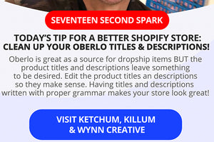 Remember to Clean up your Oberlo Titles and Descriptions!