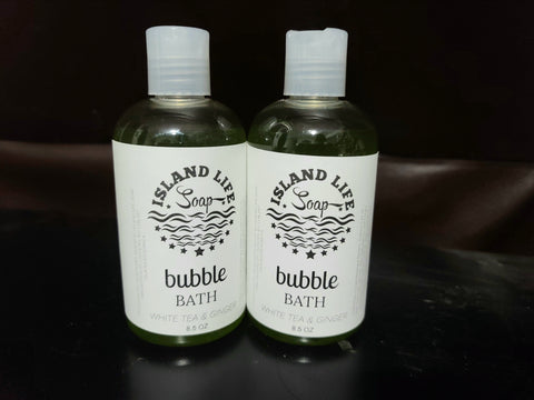 Liquid Bubble Bath White Tea and Ginger - Limited Edition - Island Life Soap