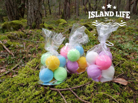 Mini Bath Bombs-Ecole Mt Prevost Fundraiser - Island Life Soap
