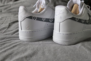 Grey Monogram Force 1