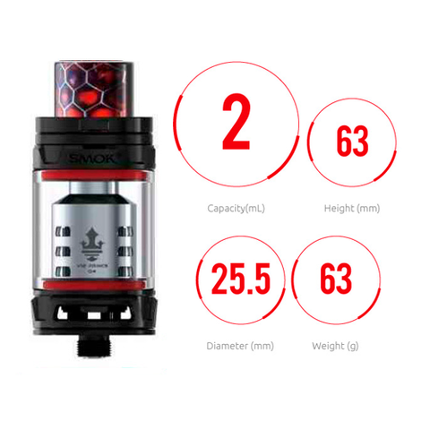 RDA TANK SMOKE TFV12 PRINCE 2ML WHITE
