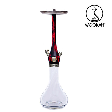 CACHIMBA WOOKAH BLACK RED CRYSTAL SMOOTH