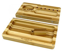 RAW Rolling Tray Striped Bamboo Flip Tray