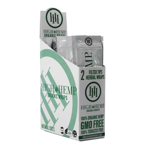 High Hemp Wraps - Organic 2pk