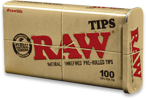 RAW Prerolled Tips 100pk Tin
