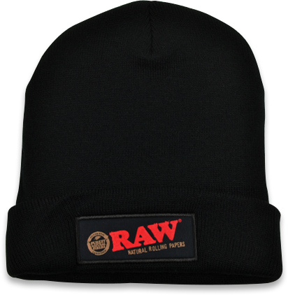RAW Black Beanie Hat