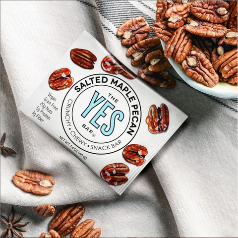 Yes Bar Salted Maple Pecan snack