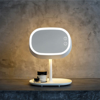 3-in-1 Cosmetic Mirror LED lamp,Make up mirror+led touch lamp+Storable base plate,Multi-function mirror table lamp