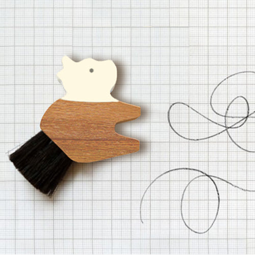 Animal eraser with brush