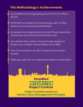 Back cover - The 'Simplified Integrated Project Controls' Methodology Achievements