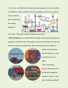 page 13 - The kid who wants to become an engineer. Granny explains Marine Engineering.