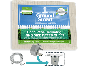 Grounding King Size Fitted Sheet - Ground Smart