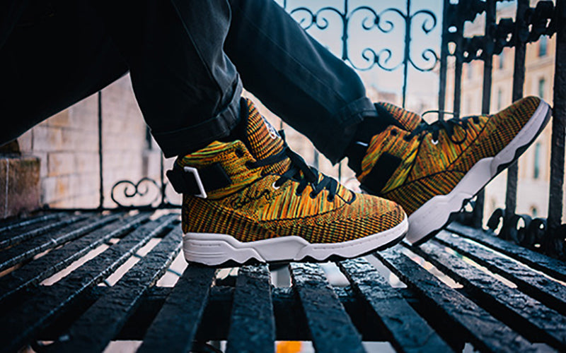 the latest c9b64 43f7a ewing athletics knit multicolor 33 hi sneaker january retro drop on TheDrop
