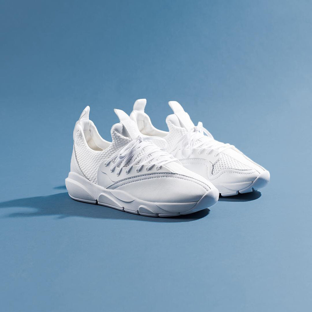 cloud stryk white hawk all white-on-white clearweather brand leather stretch mesh sneaker lacednlit for sale on TheDrop