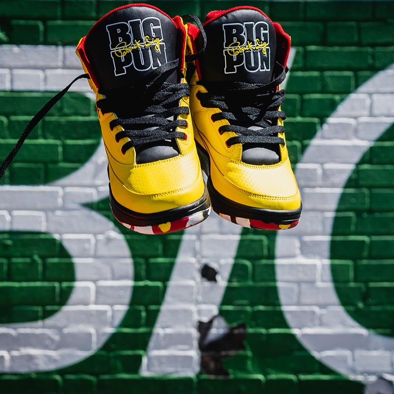big pun special anniversary edition 33 hi sneaker collab with Ewing Athletics on TheDrop
