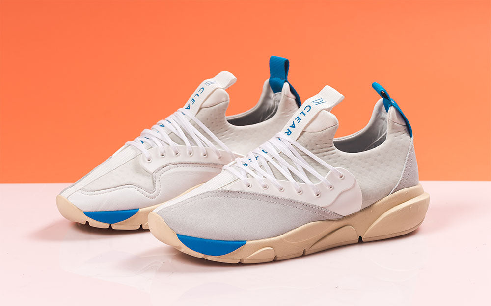 bluejay cloud stryk trainer by clearweather brand sneakers on thedrop