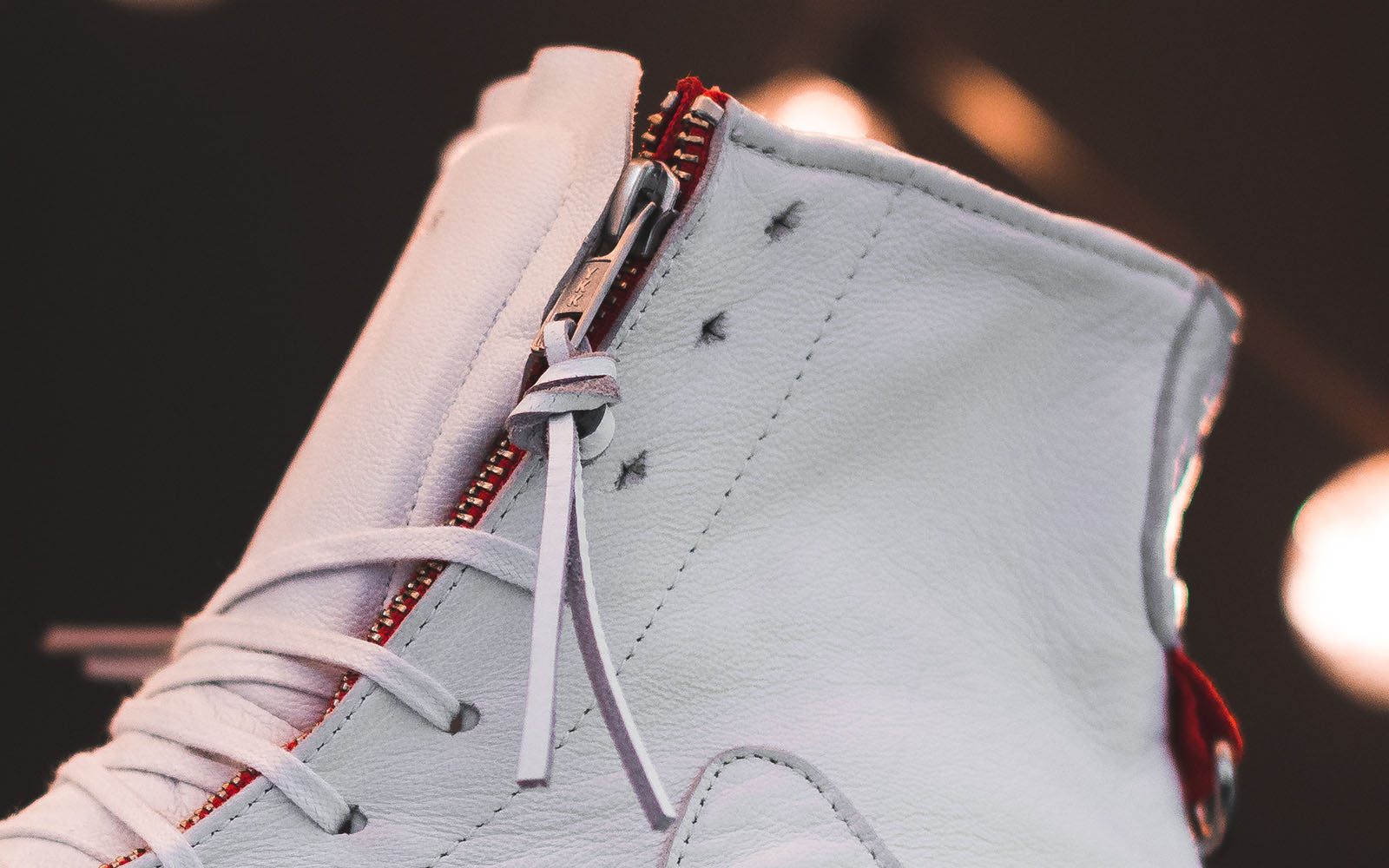 clearweather brand the clutch white hi-top zippers sneaker with stash pockets on thedrop