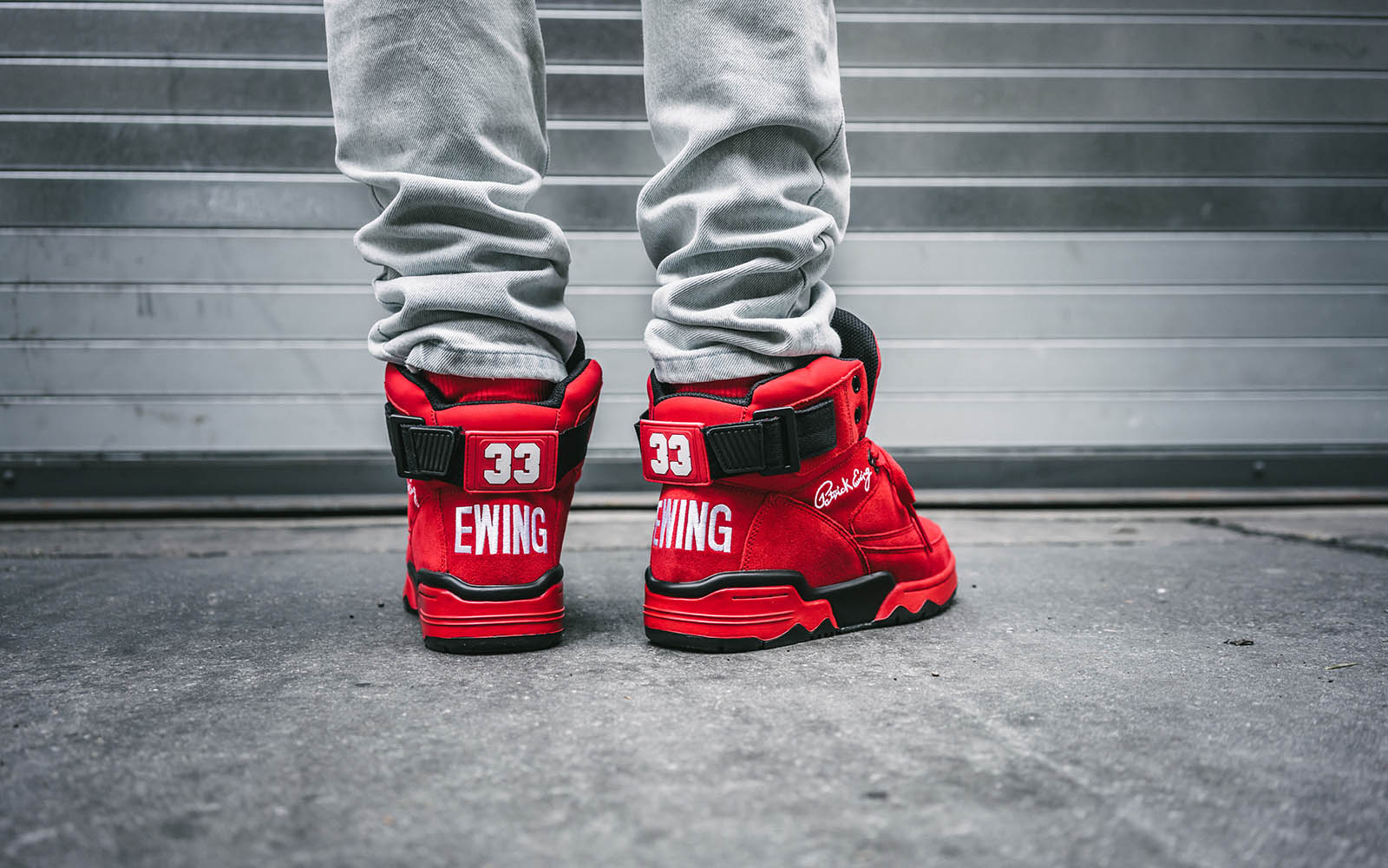ewing february 2018 retro 33 mid red/black/white limited edition sneakers by nba legend patrick ewing on thedrop