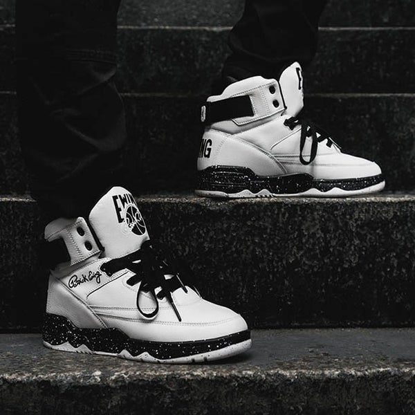 ewing athletics by patrick ewing nba legend 33 HI Speckle white sneaker drop lacednlit
