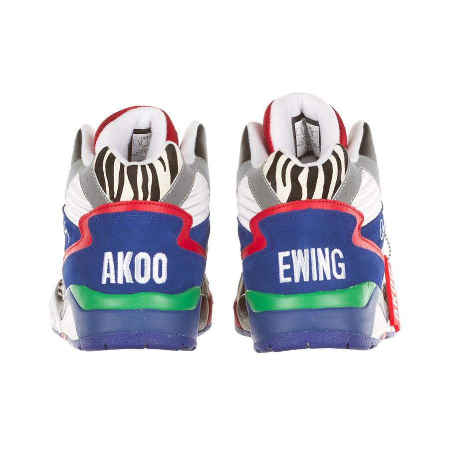 ewing x akoo sneaker collab exclusive limited edition hi top model on thedrop