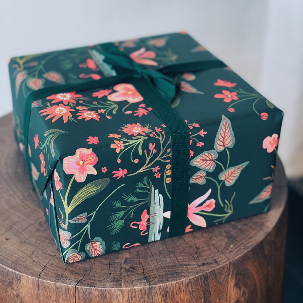 Flamingo Garden Wrapping Paper