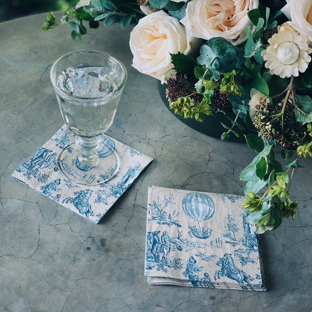 Montgolfiere Toile Cocktail Napkin