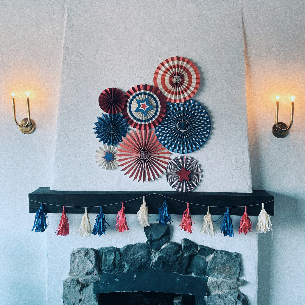 Red White and Blue Tassel Garland