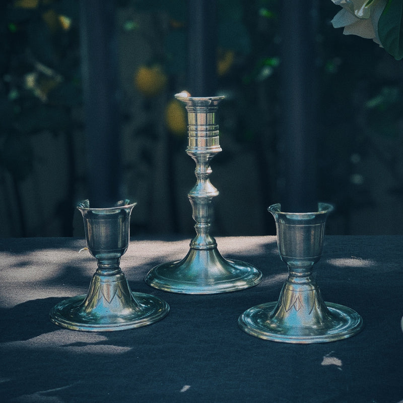 Match Pewter | Prato Candlestick