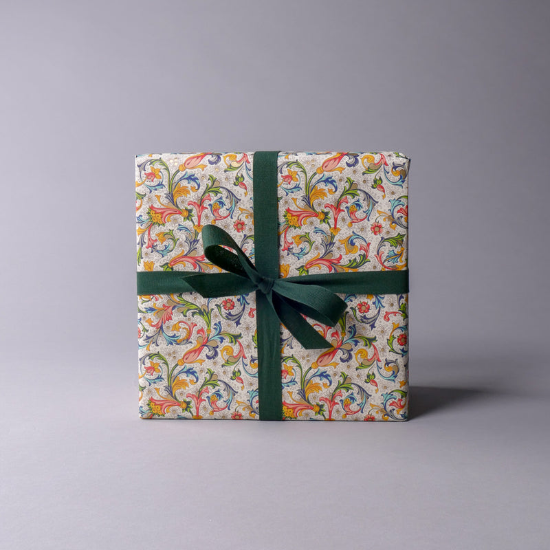 Red Florentine Wrapping Paper
